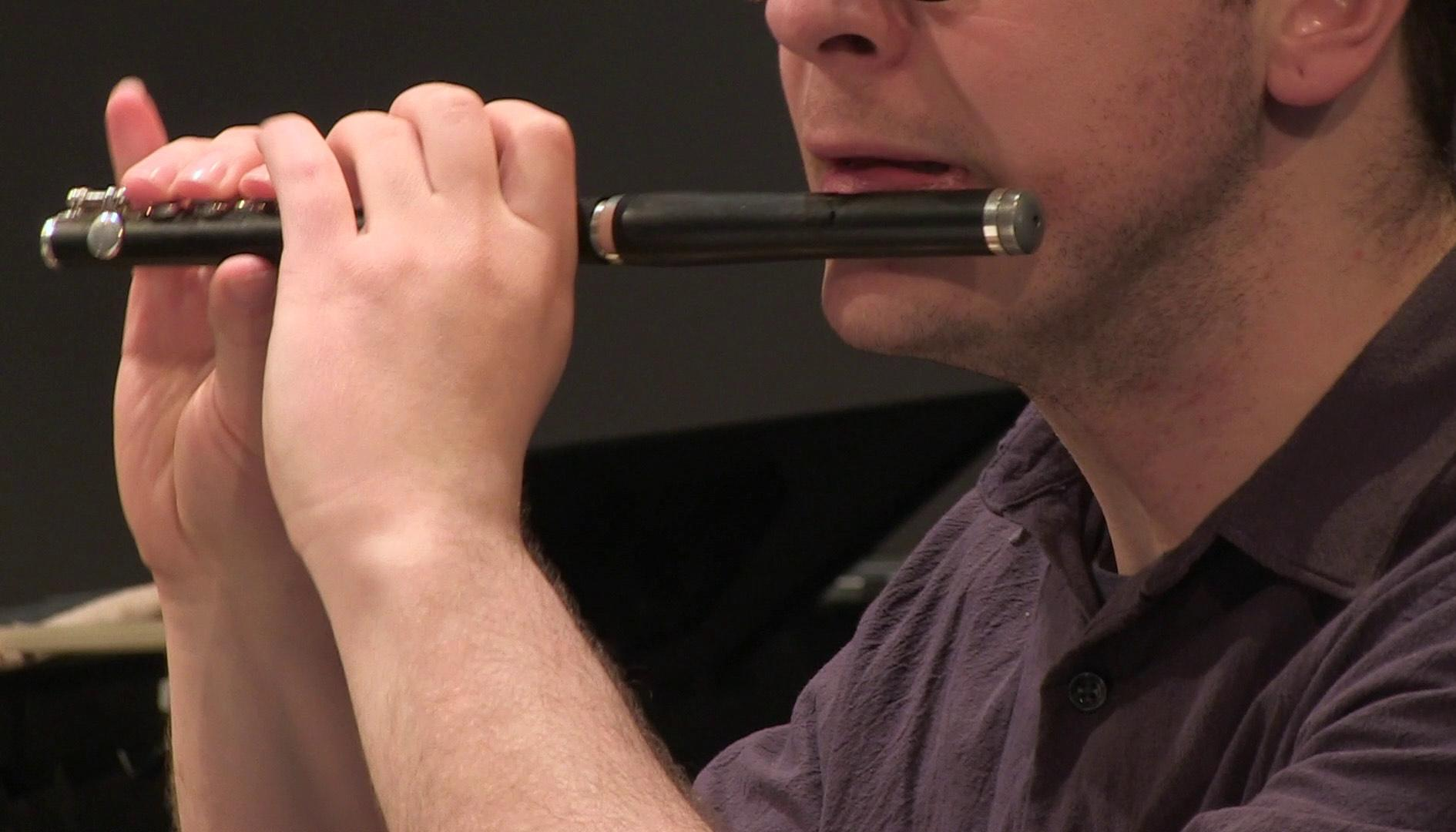 Photo of a flutist